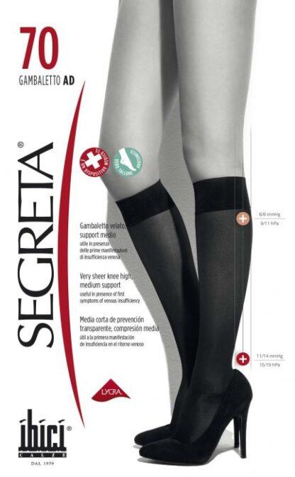Дамски чорапи при разширени вени 3/4 70 дни Segreta от ортопедичен магазин МЕДИ СИ ПЛОВДИВ ЕООД