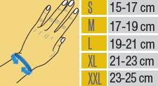 Таблица с размери на китката от МЕДИ СИ ПЛОВДИВ ЕООД