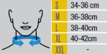 Таблица с размери на ортопедични яки от ортопедичен магазин МЕДИ СИ