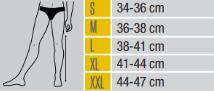 Таблица с размери за колянни ортези и ортези за коляно от ортопедичен магазин МЕДИ СИ Пловдив